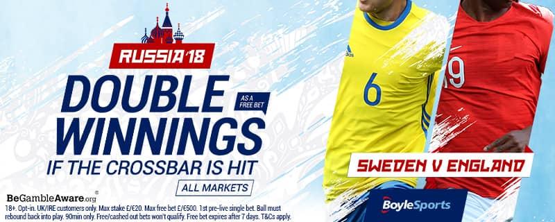 Double Winnings Sweden v England Boylesport Offer